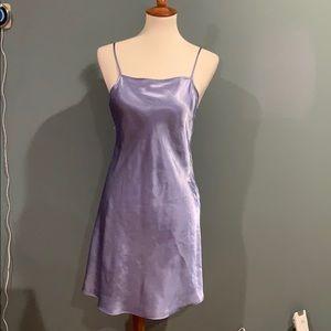 Lilac Satin Mini Dress